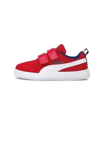 Puma Puma Courtflex V2 Mesh V PS  Çocuk Ayakkabı 37175806 37175806003 Kırmızı